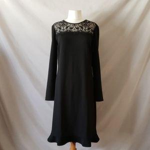 Joe Fresh Black Long Sleeve Lace Dress